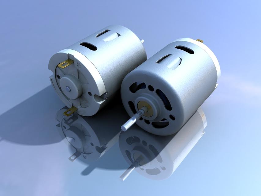 DC Motor 12V | 3D CAD Model Library | GrabCAD