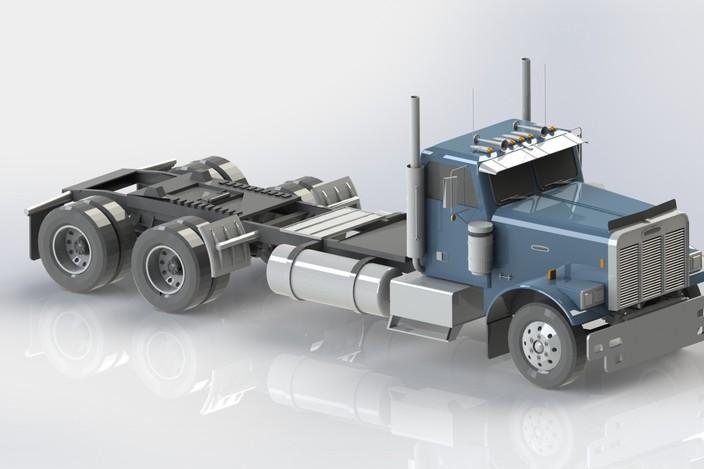 Freightliner truck step iges solidworks 3d cad model grabcad