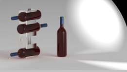 Wine bottles support by metalys