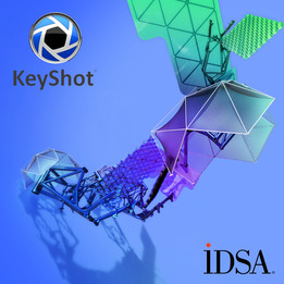 Keyshot Blue Design