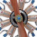 9 Cylinder Radial Engine Animation