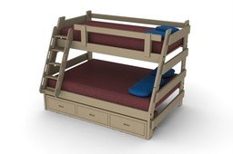 Twin/Full Bunk bed 20-063