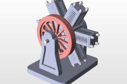 Cylinder Radial Engine