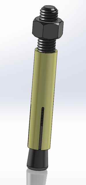 M16 Anchor Bolt | 3D CAD Model Library | GrabCAD