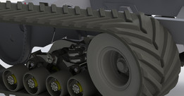 TG-250AG Concept for suspension with bogie wheel unfinished
