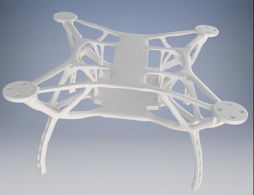 Nature Quadcopter Drone Frame (Generative Design)   3D CAD Model