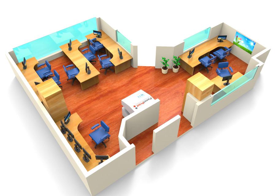 Small Office Interior 3d Cad Model Library Grabcad