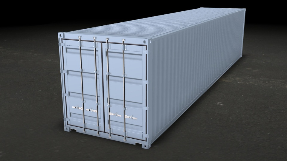Iso Container 1aa Std 40 12m 3d Cad Model