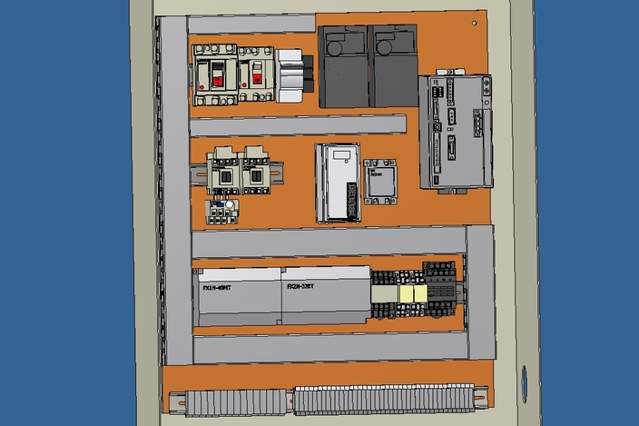 3D Electrical Panel in Electrical box