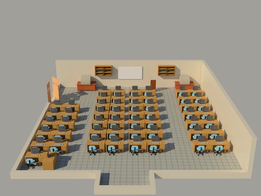 Computer Simulation Lab 3d Cad Model Library Grabcad