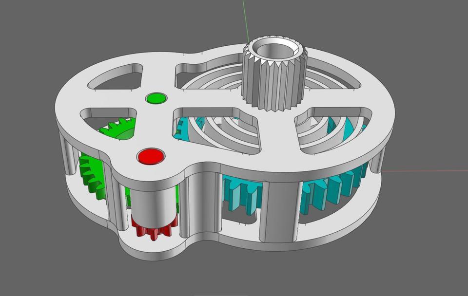Danny 39 S 3d Printed Wind Up Clockwork Motor 3d Cad Model