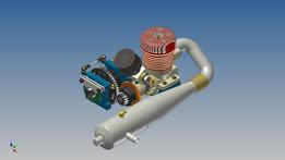 Centrál differential+engine