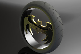 Batman Chopper Wheel