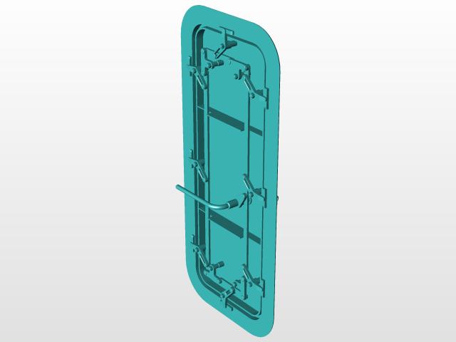 & Waterproof Door | 3D CAD Model Library | GrabCAD