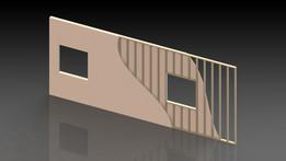 Pine 2x4/Sheetrock Wall Assembly