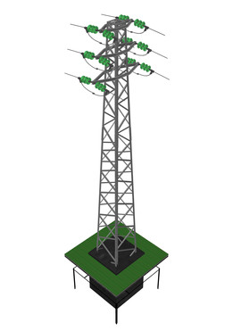 Medium voltage overhead power line tower 952, D average 900 mm