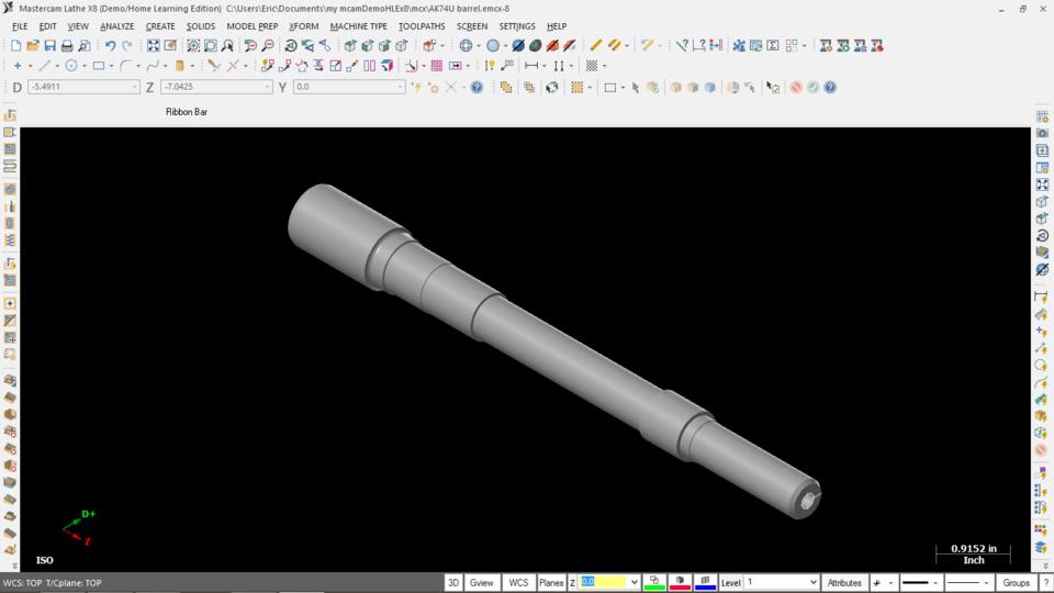 AK74U Barrel 5 45X39 | 3D CAD Model Library | GrabCAD