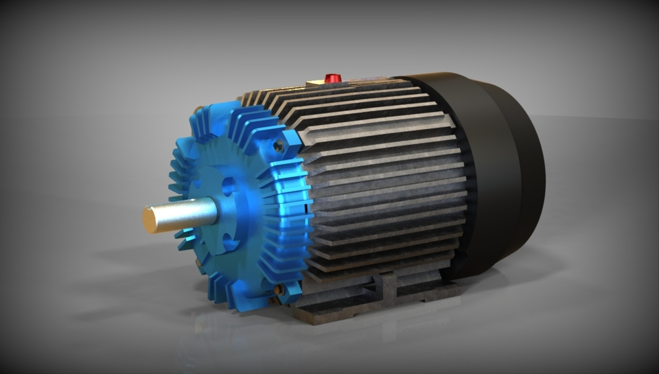 Toshiba Electric Motor Autodesk Inventor 3d Cad Model