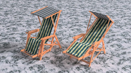Deck chair tip up