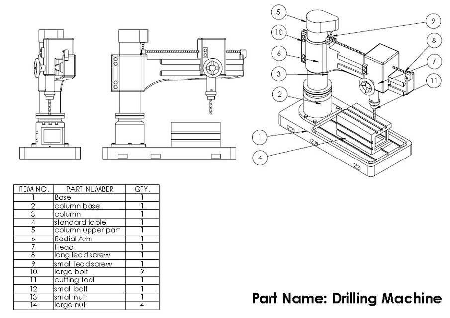 Radial drilling Machine by Shashi kant | 3D CAD Model