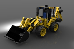 LEGO Technic #42004 Mini Backhoe Loader (2013)