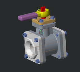 Valve assembly in creo