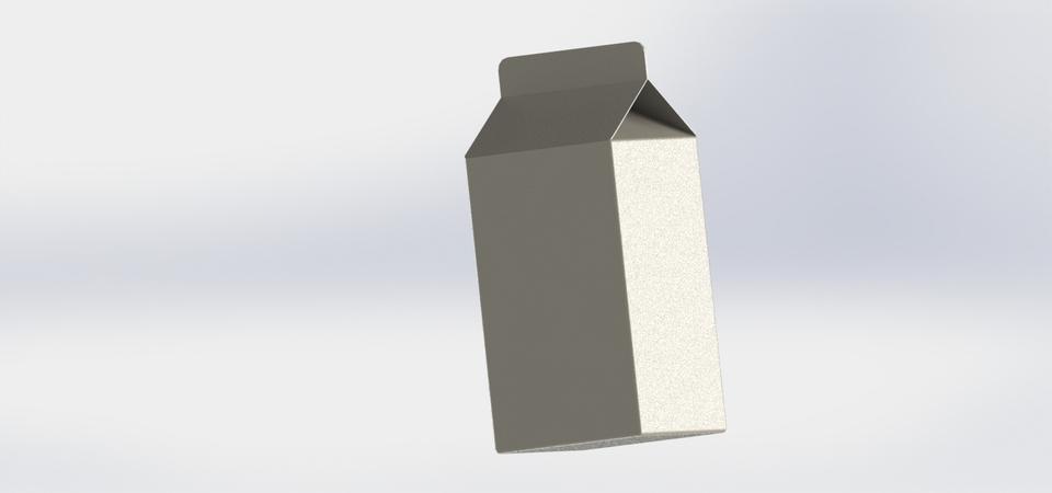 milk or juicebox template 3d cad model library grabcad