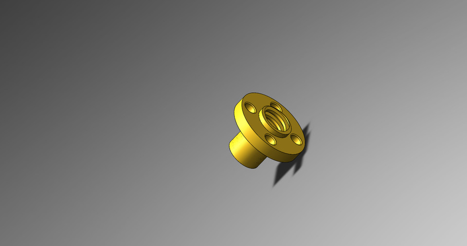 8mm Lead Screw with Nut   3D CAD Model Library   GrabCAD