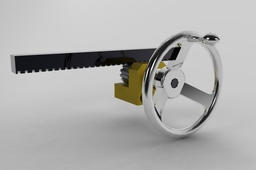 Hand Wheel with Pinion and Rack