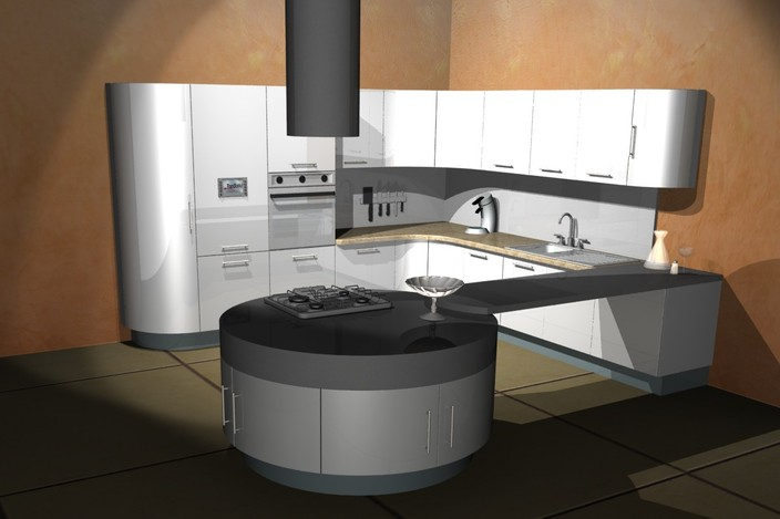 Cuisine moderne for Cuisine 3d solidworks