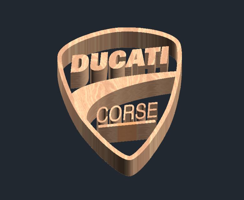 Logo Ducati Corse 3d Cad Model Library Grabcad