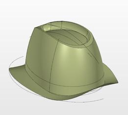 Lamina sombrero