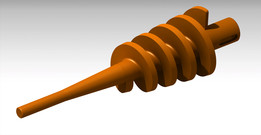designing screw-worm for briquetting press machine