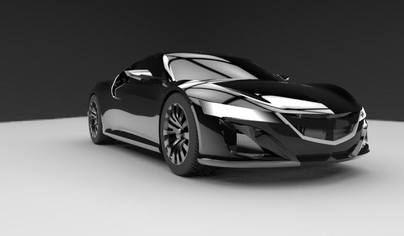 Honda NSX sport car Rhino document | 3D CAD Model Library