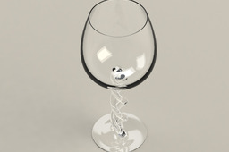 Wine Glass with Double Helix Stem