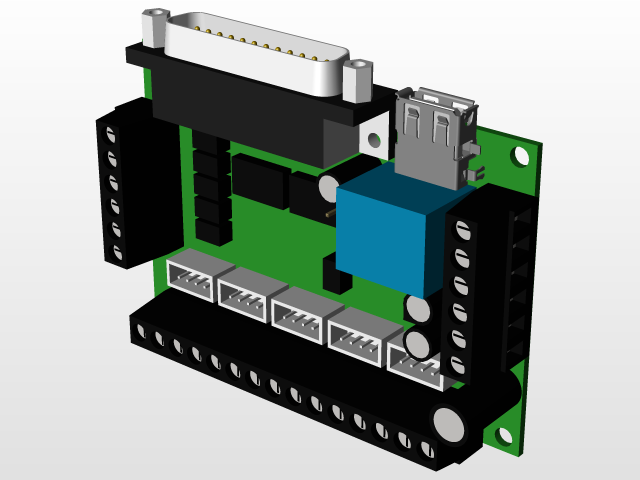 5 Axis CNC Breakout Board | 3D CAD Model Library | GrabCAD