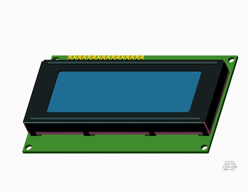 LCD 20x4 Display HD44780 Arduino Raspberry Pi   3D CAD Model