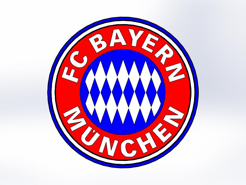 Bayern Munchen Logo 3d Cad Model Library Grabcad