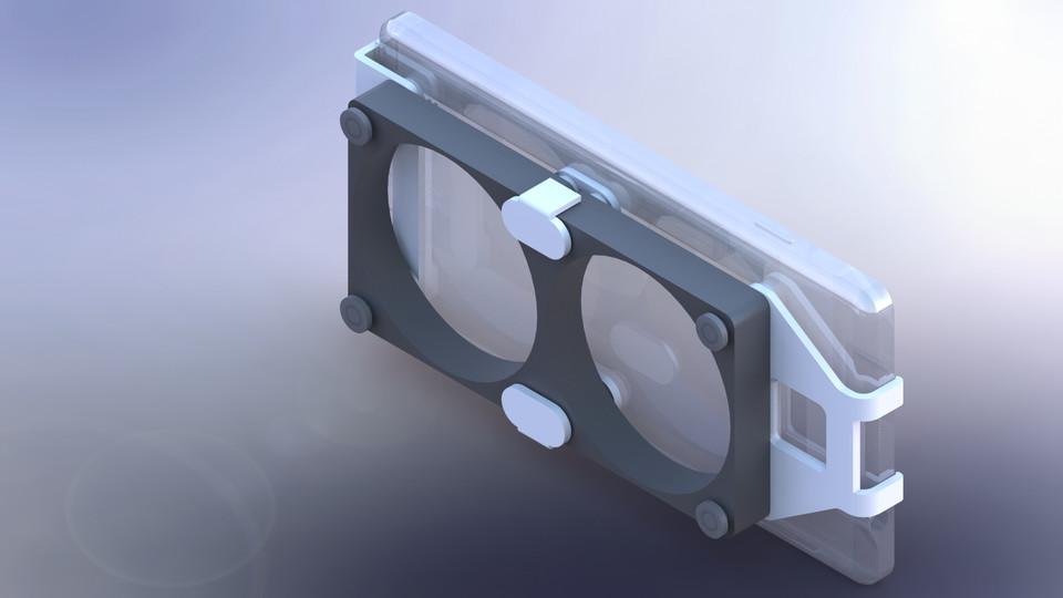 Fan Cooler Samsung S7 Gear VR   3D CAD Model Library