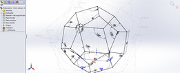 Dodecahedron in a single sketch