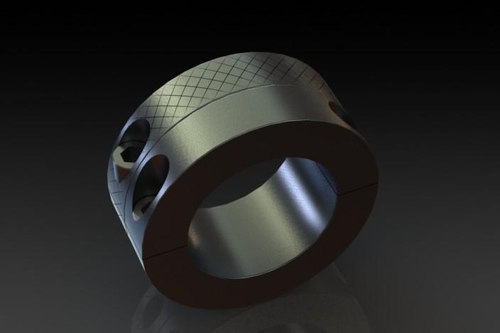 Adjustable width clamp on shaft collars step iges d