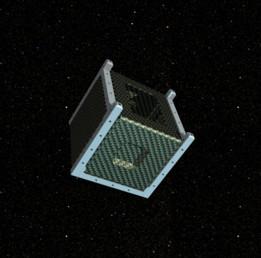 Monocoque 1U cubesat