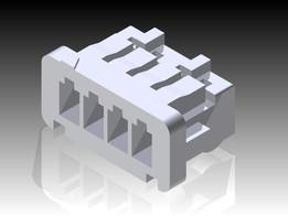 4 Position Single Row 1.25mm Pitch Miniature Socket - Hirose Electric DF13-4S-1.25C