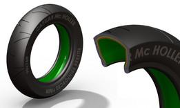Fiber Reinforced Motorcycle Tyre