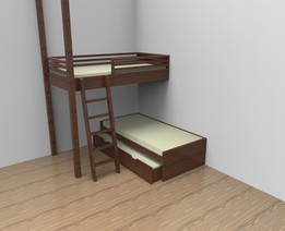 Triple bed