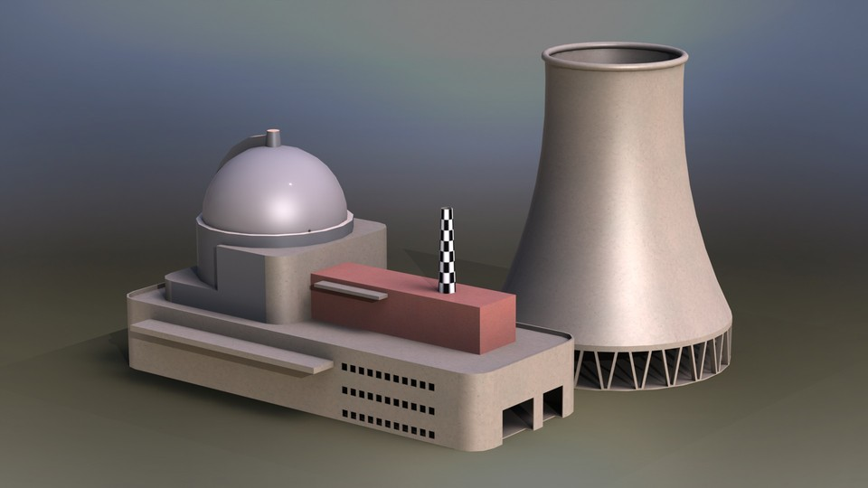 Nuclear Power Plant | 3D CAD Model Library | GrabCAD