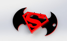Batman Superman Keychain [not to scale]