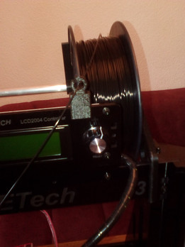 Filament Guide for Geeetech Prusa I3 acrylic LCD-frame