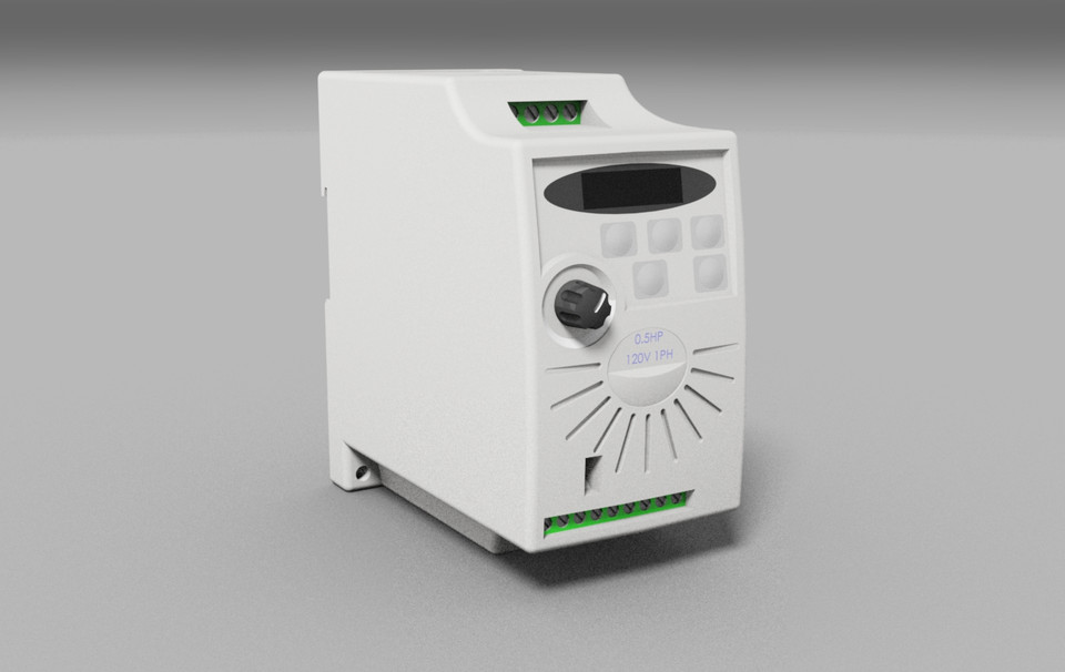 AUTOMATION DIRECT - MINI AC DRIVE GS1-10P5 | 3D CAD Model Library