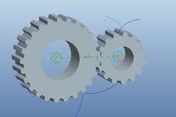 Spur gear with Pinion(Meshing)